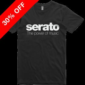 Serato Power of Music tees White on Black